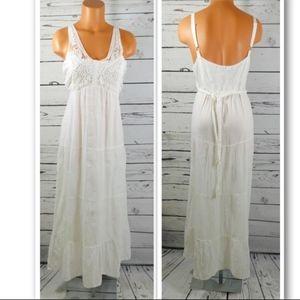 Mlle Gabrielle White Cotton Summer Dress